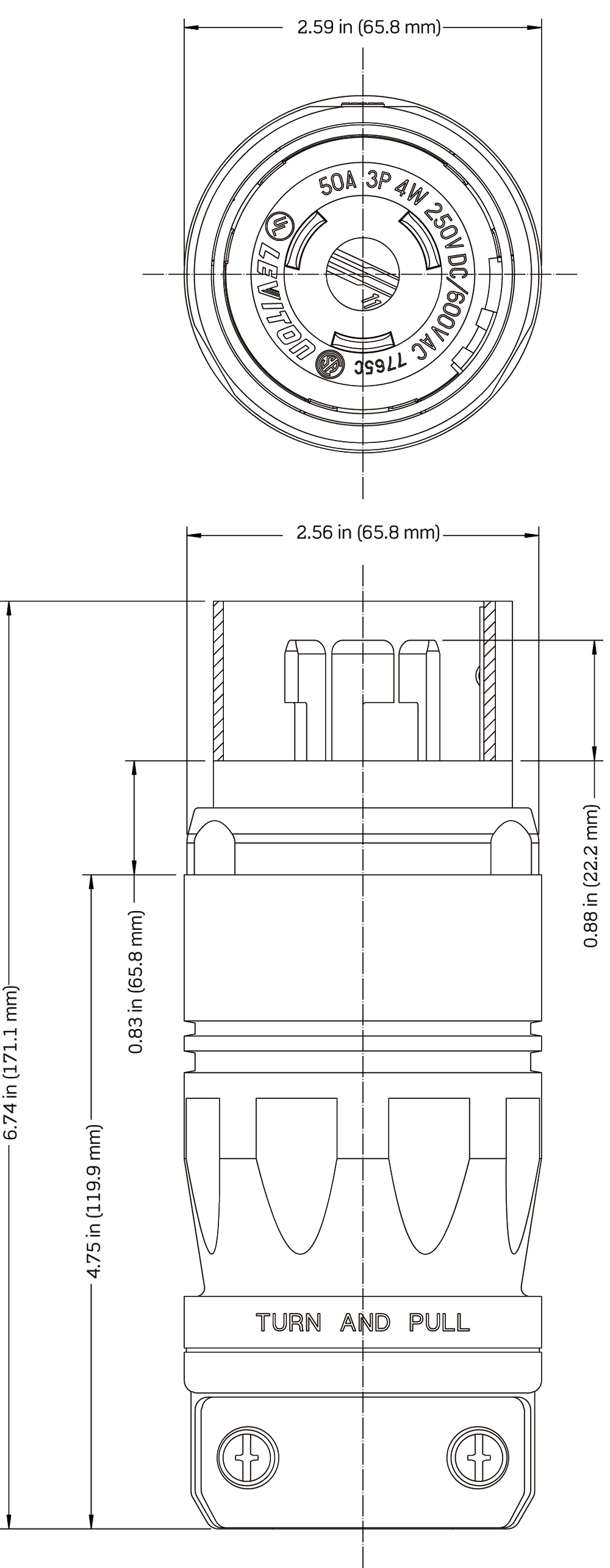 7765c Plug Wiring Diagram For Leviton Also Dc Power Jack Connector Male Instruction Sheet Black And White Installation
