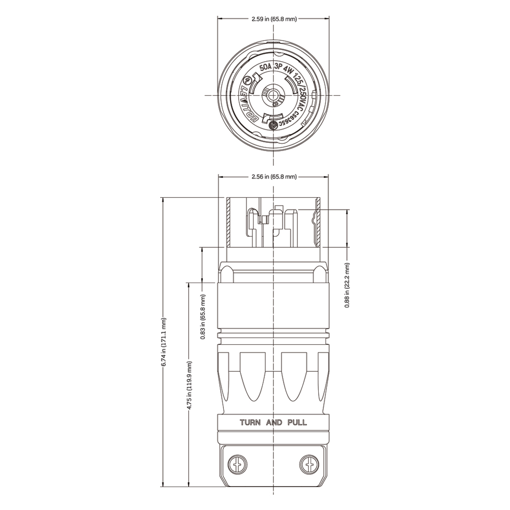 Cs6365c Nema 15 50 Plug Wiring Diagram Dimensional Data Instruction Sheet Black And White Connector Installation