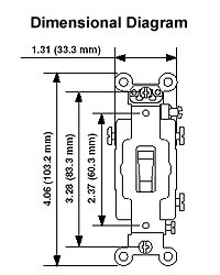 277 Volt Leviton 1221-7LI 20-Amp Extra Heavy Duty Grade Self Grounding Ivory Illuminated Off Single-Pole AC Quiet Switch Toggle Lighted Handle