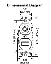 5226 15 amp duplex style single pole neon pilot ac combination Leviton Switches Wiring-Diagram T5225 dimensional data