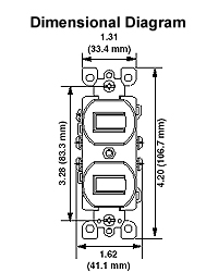 5241 duplex style single pole 3 way ac combination switch in rh leviton com Leviton Outlet Wiring Diagram Leviton Switches Wiring-Diagram