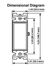 5604 2 15 amp decora rocker 4 way ac quiet switch in mahogany 5621 Leviton Decora Switch Wiring Diagram wiring diagram decora