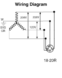 [DIAGRAM_1CA]  7250-FR - 20 Amp 3Ø Flush Mtg Receptacle in Black - Leviton | 208v Plug Wiring Diagram |  | Leviton.com