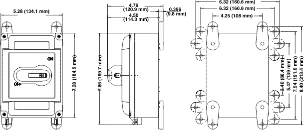 NEMA 4X Watertight Leviton MS4X-302 30A 600V Starter//Disconnect