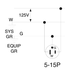 515pv 15 amp straight blade plug in yellow leviton GMC Fuse Box Diagrams