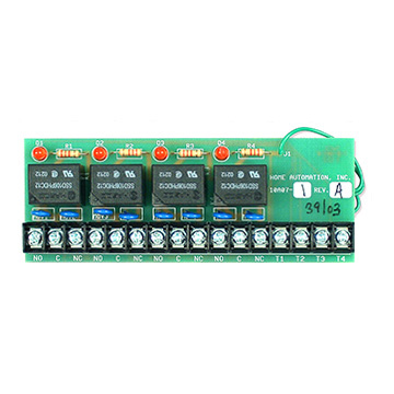 Leviton 4-WAY CLASS-C RELAY MODULE FOR PUMPS, MOTORS, SPRINKLER, ETC 24V-30V DC MAX @ 5AMPS