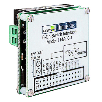 Leviton OMNI-BUS 6-CHANNEL UNIVERSAL SWITCH INTERFACE MODULE