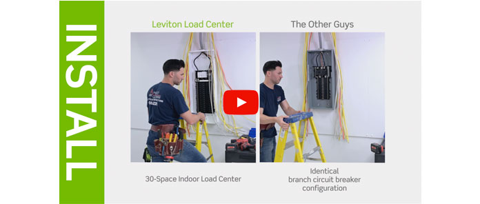 The Leviton Load Center on